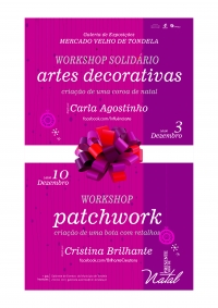 Workshops de Artes de Decorativas e de Patchwork