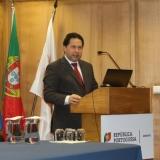 Presidente da Câmara de Tondela na apresentação dos investimentos financiados pelo PO SEUR